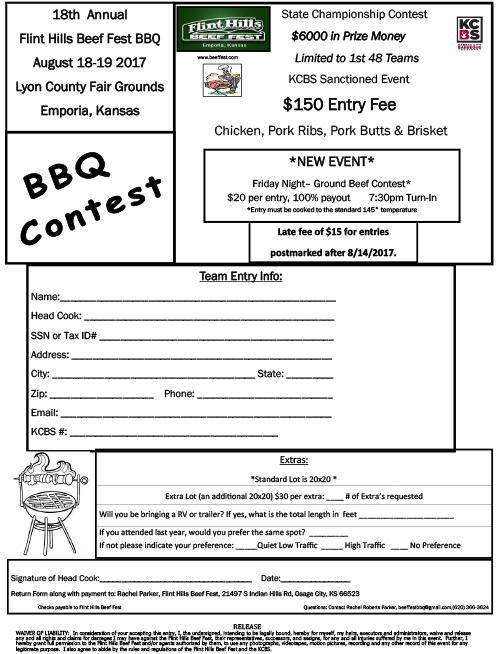 2017 BBQ Form image